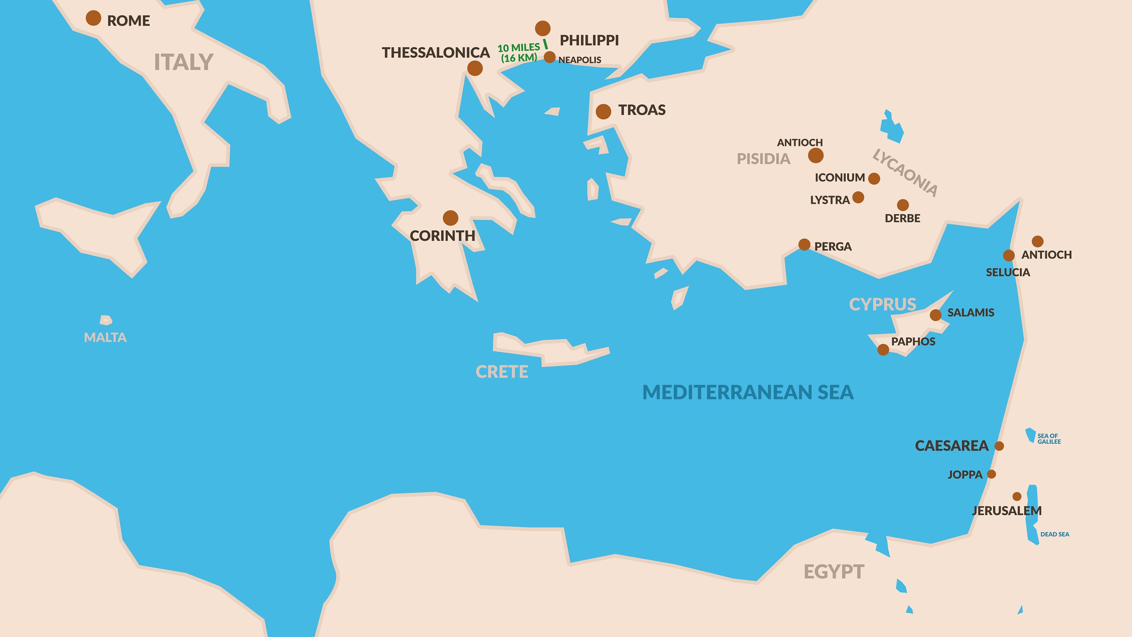 Introduction to Philippians | BibleTalk.tv on nazareth map, phoenicia map, capernaum map, jerusalem map, bible caesarea on a map, judea map, magdala map, qumran map, caesarea palaestina, azotus to caesarea map, mount of olives map, bethlehem map, chorazin map, antonia fortress map, philippi macedonia map, philippi bible map, colossae map, mt. tabor map, masada map, cyprus map, damascus map,
